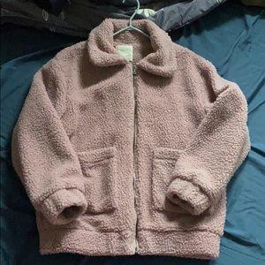 Pink Teddy Bear Jacket 🌸